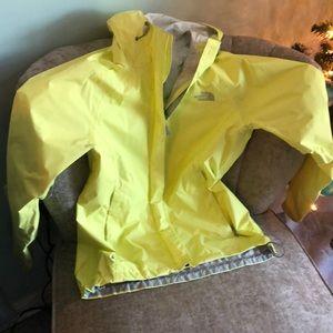 The North Face ladies yellow rain jacket
